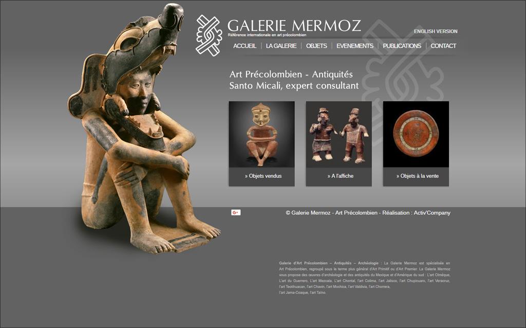 Site de présentation de la galerie Mermoz