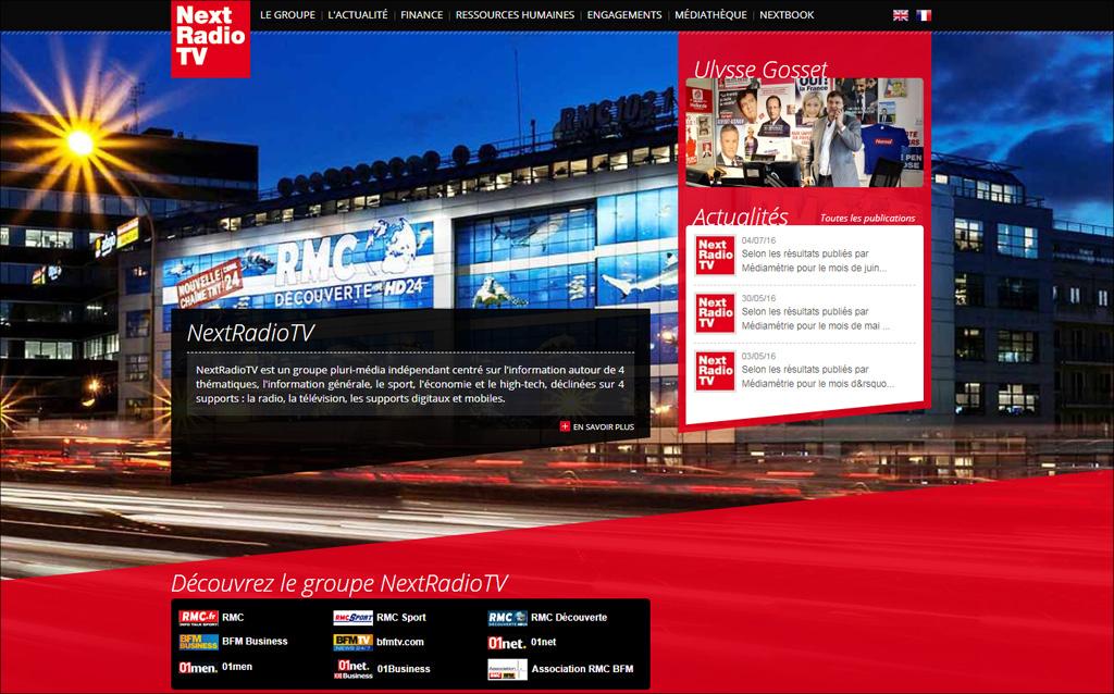 Site officiel du groupe Next Radio TV