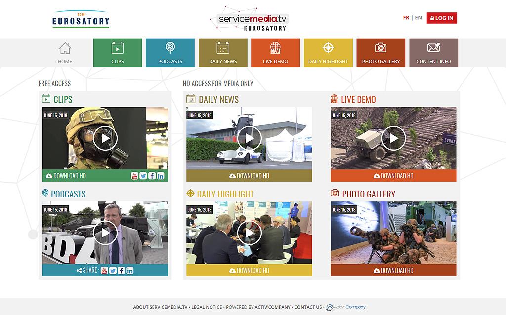 servicemedia.tv : vue du site web