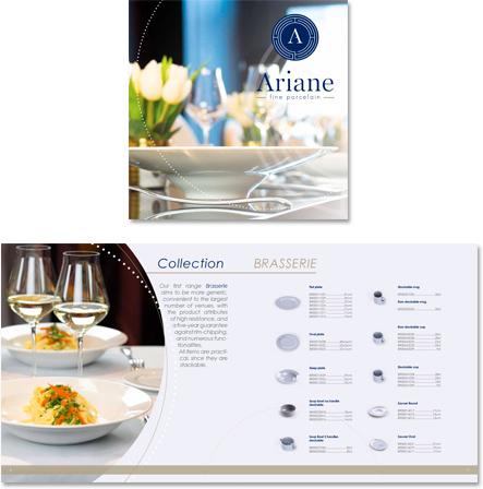 catalogue Ariane réalisé par le studio graphique