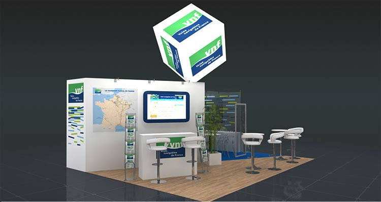 stand d'exposition VNF
